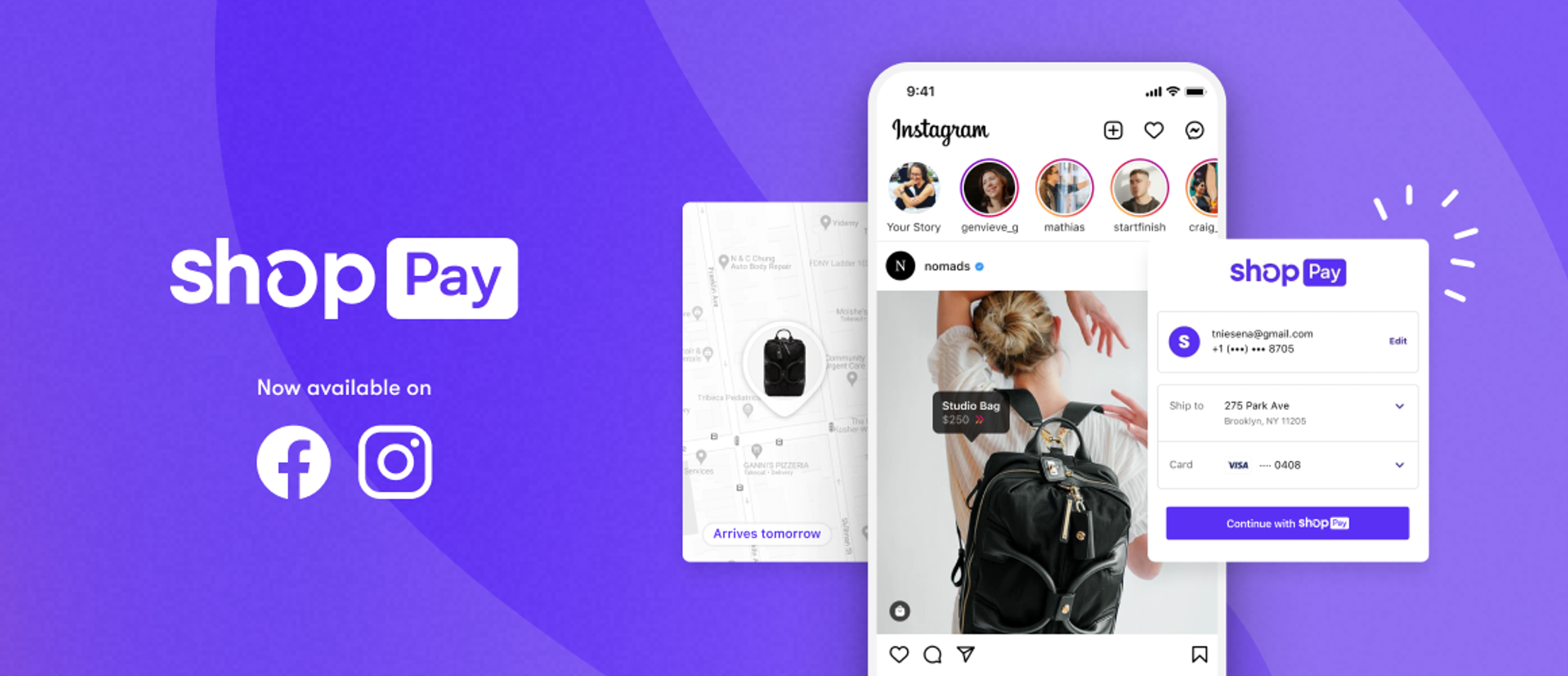 Shopify's Shop Pay heads to Facebook and Instagram.