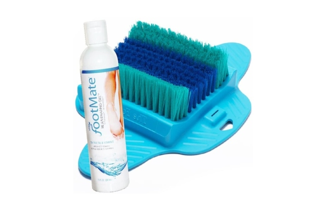 the footmate system, best shower foot scrubbers