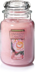 yankee candle, best rose scented candles