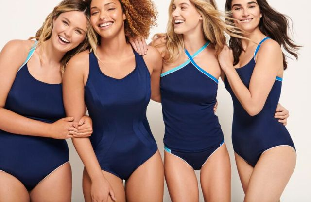 Lands' End swimsuits are a key category for the all-American classic brand.