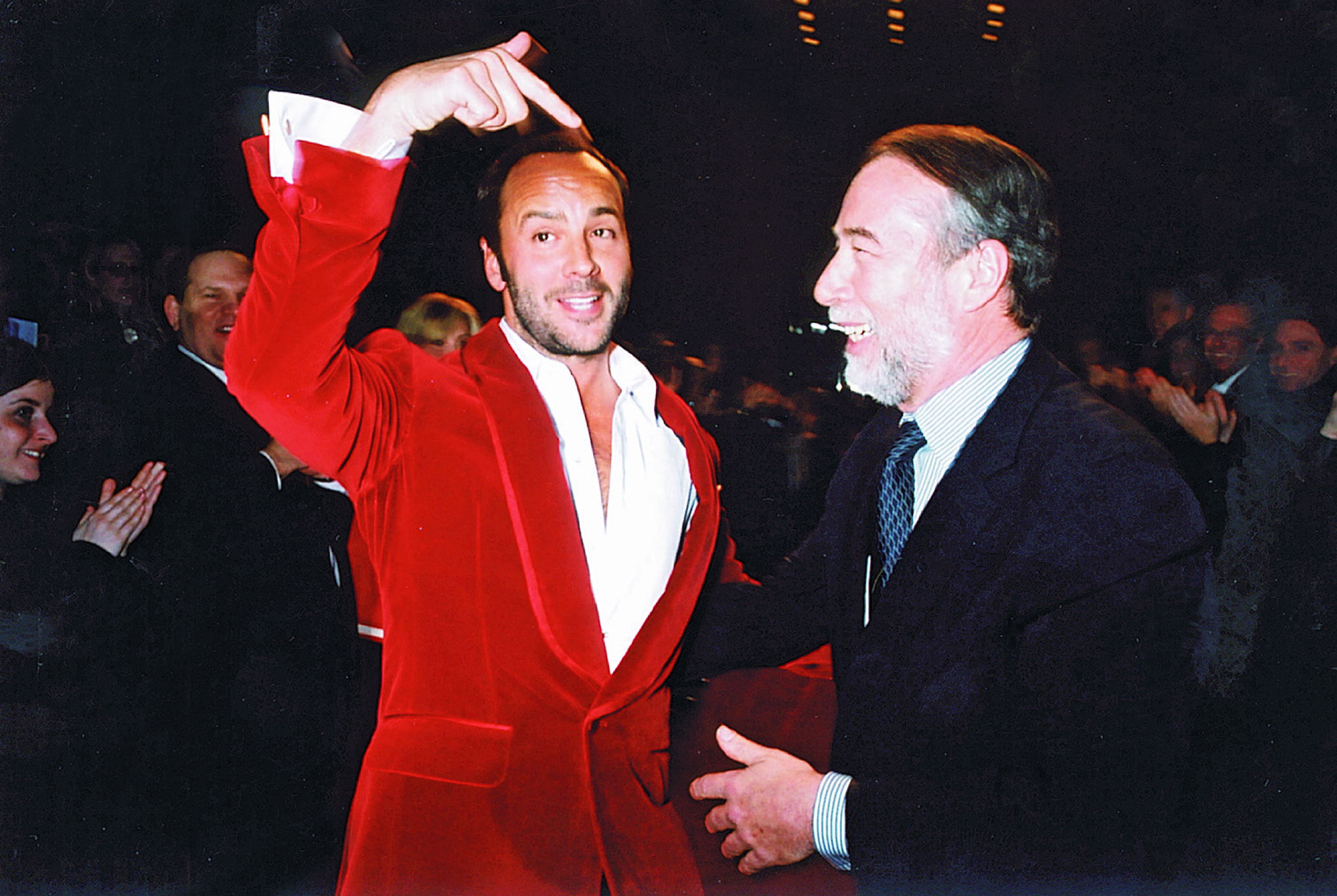 Tom Ford and Domenico De Sole at their final show in 2004