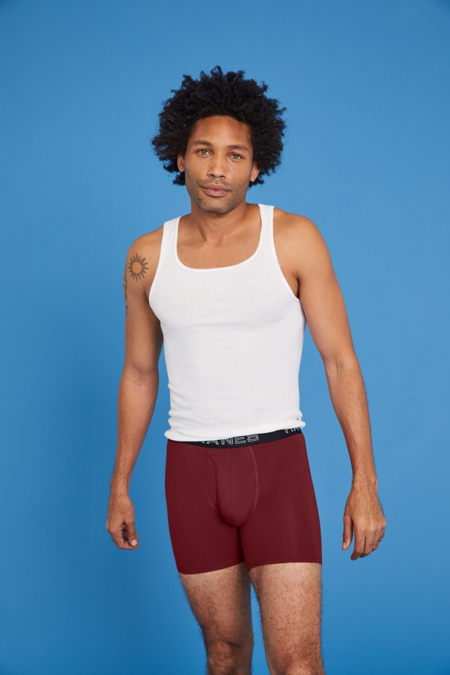 The new Comfort Flex Fit Total Support Pouch boxer brief by Hanes.