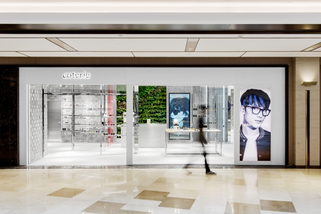 Store front of Chinese eyewear concept store Coterie