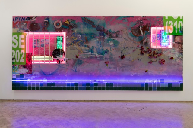 """Installation view of Patrick Martínez's """"Defeat and Victory."""""""