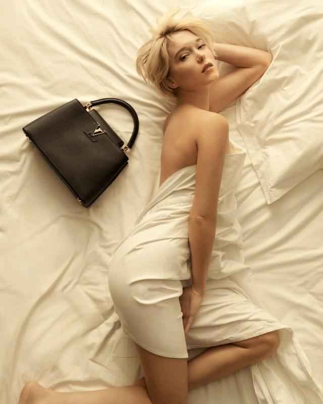 Léa Seydoux در کمپین Louis Vuitton برای کیف دستی Capucines.
