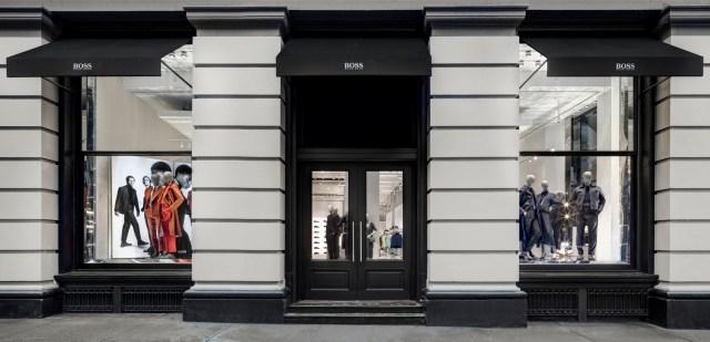 The Hugo Boss store in SoHo, New York.
