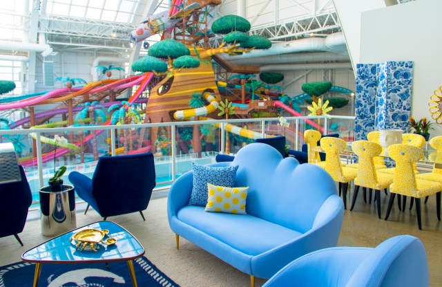 The Capri-inspired VIP Skybox Suite at American Dream.