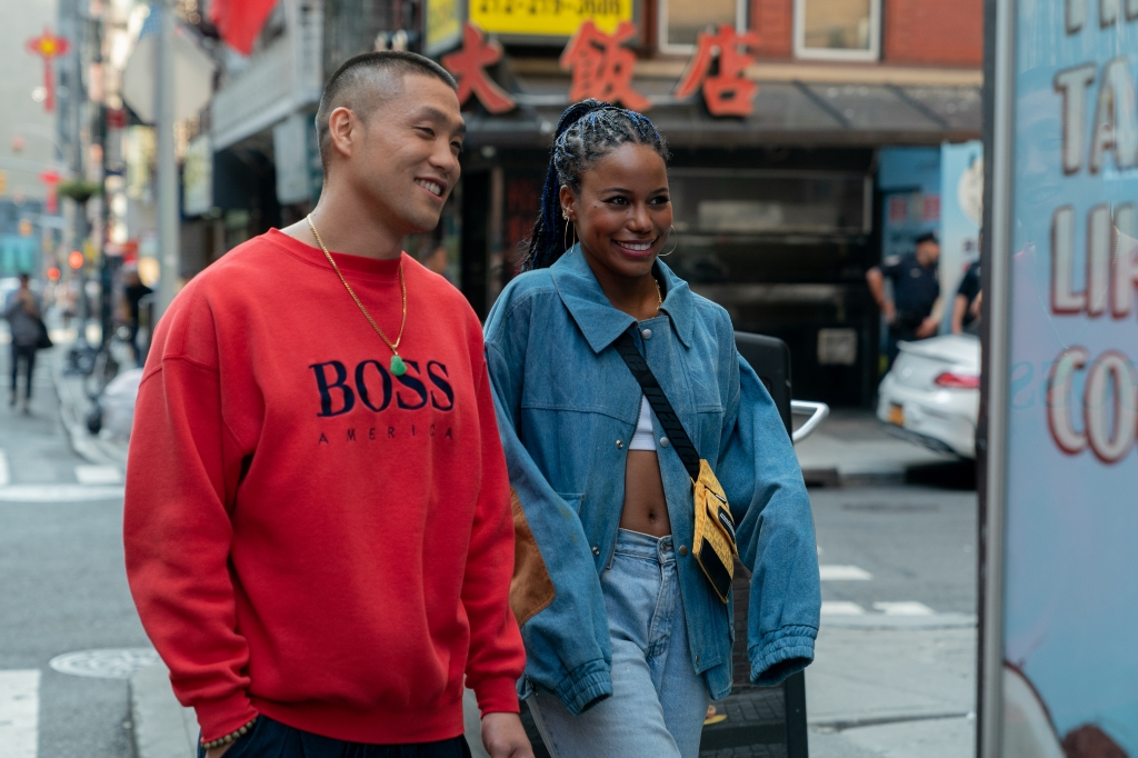 Taylor Takahashi and Taylour Paige in a still from the film.