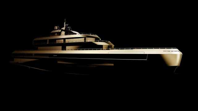 A teaser of the luxury yacht designed by Giorgio Armani in partnership with The Italian Sea Group.