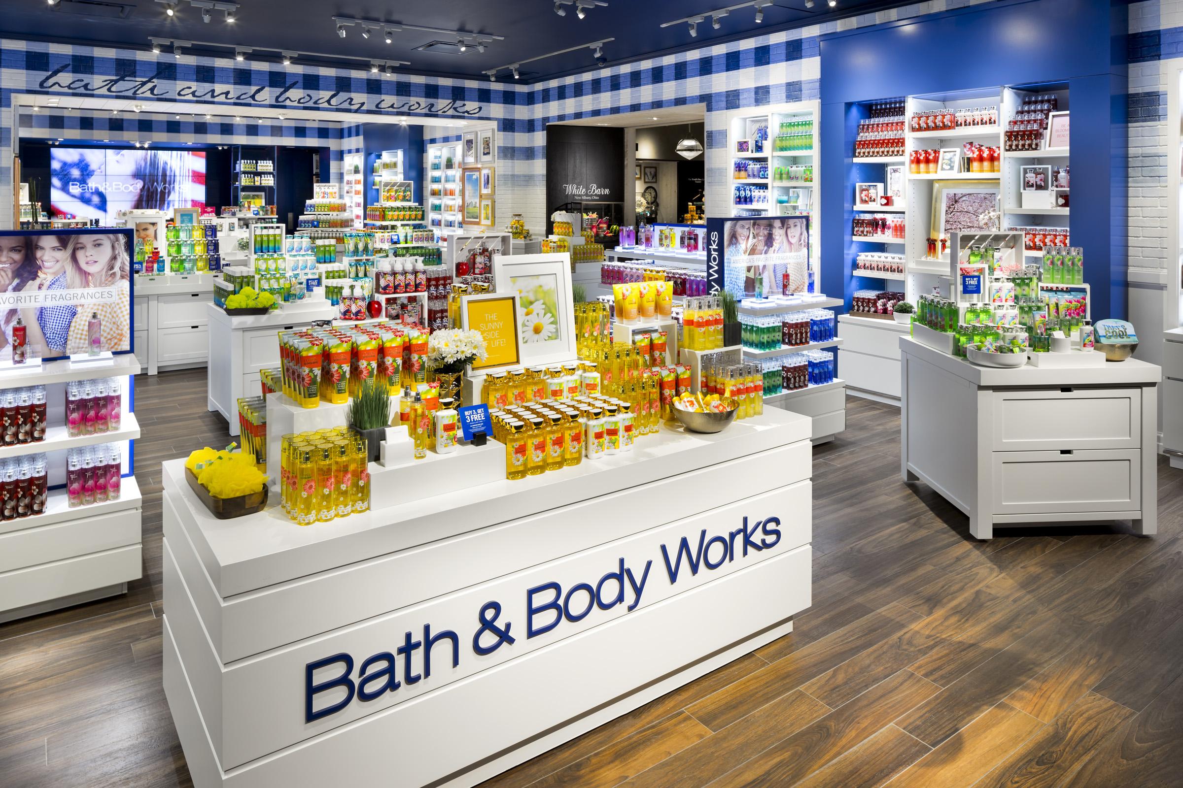 inside a bath & body works store
