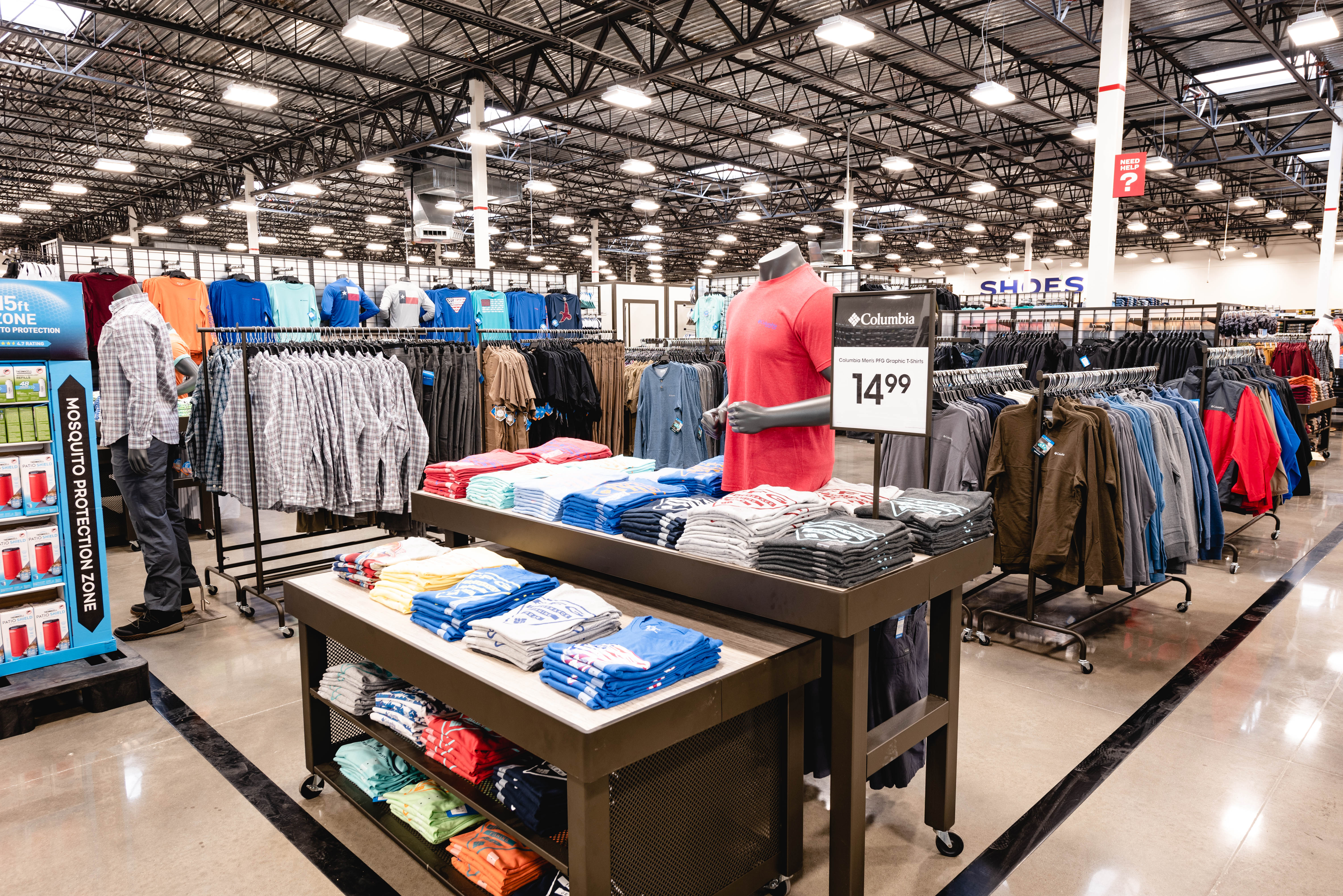 The apparel space at Academy Sports + Outdoors.