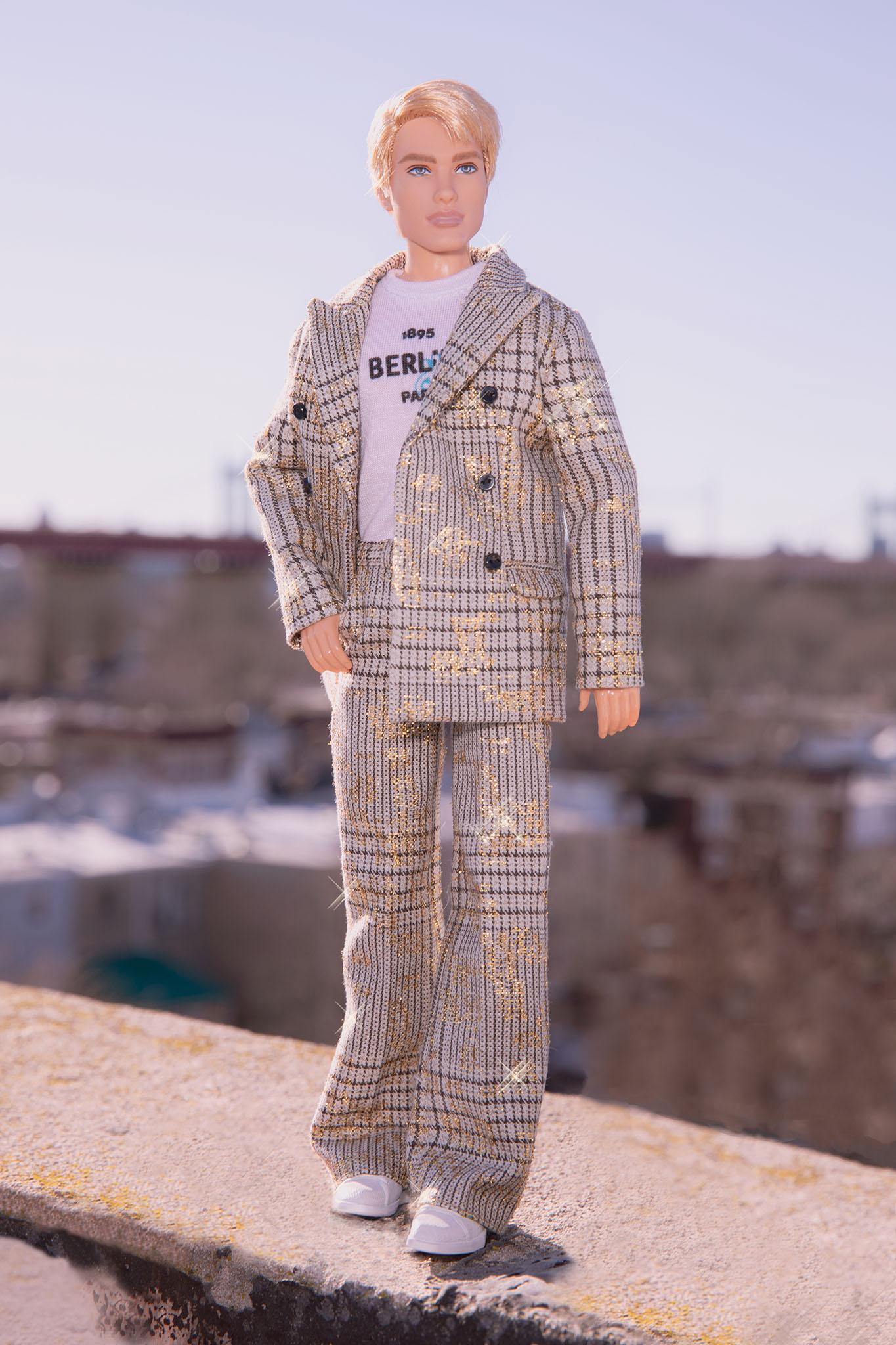 Mattel collaborated with Kris Van Assche, Creative Director of  Berluti, to create three Ken dolls for Ken's 60th birthday.