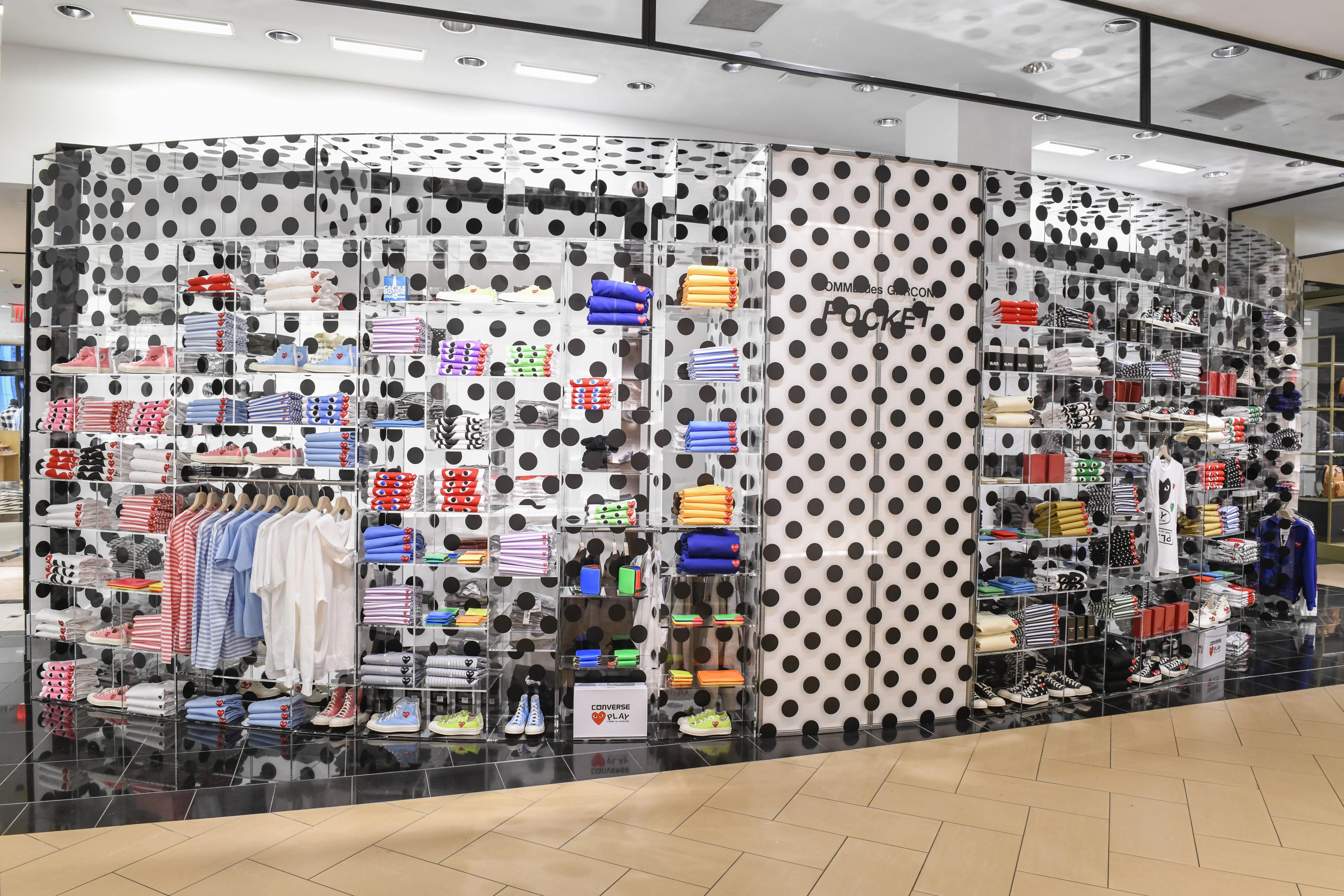 "The Comme des Garçons ""Pocket"" shop at Bloomingdale's."
