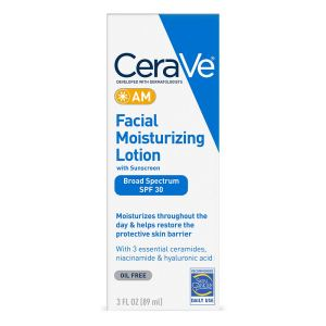 CeraVe AM Facial Moisturizing Lotion SPF 30, best Fragrance Free Moisturizers