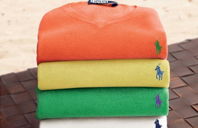 Some of Polo's iconic sweaters.