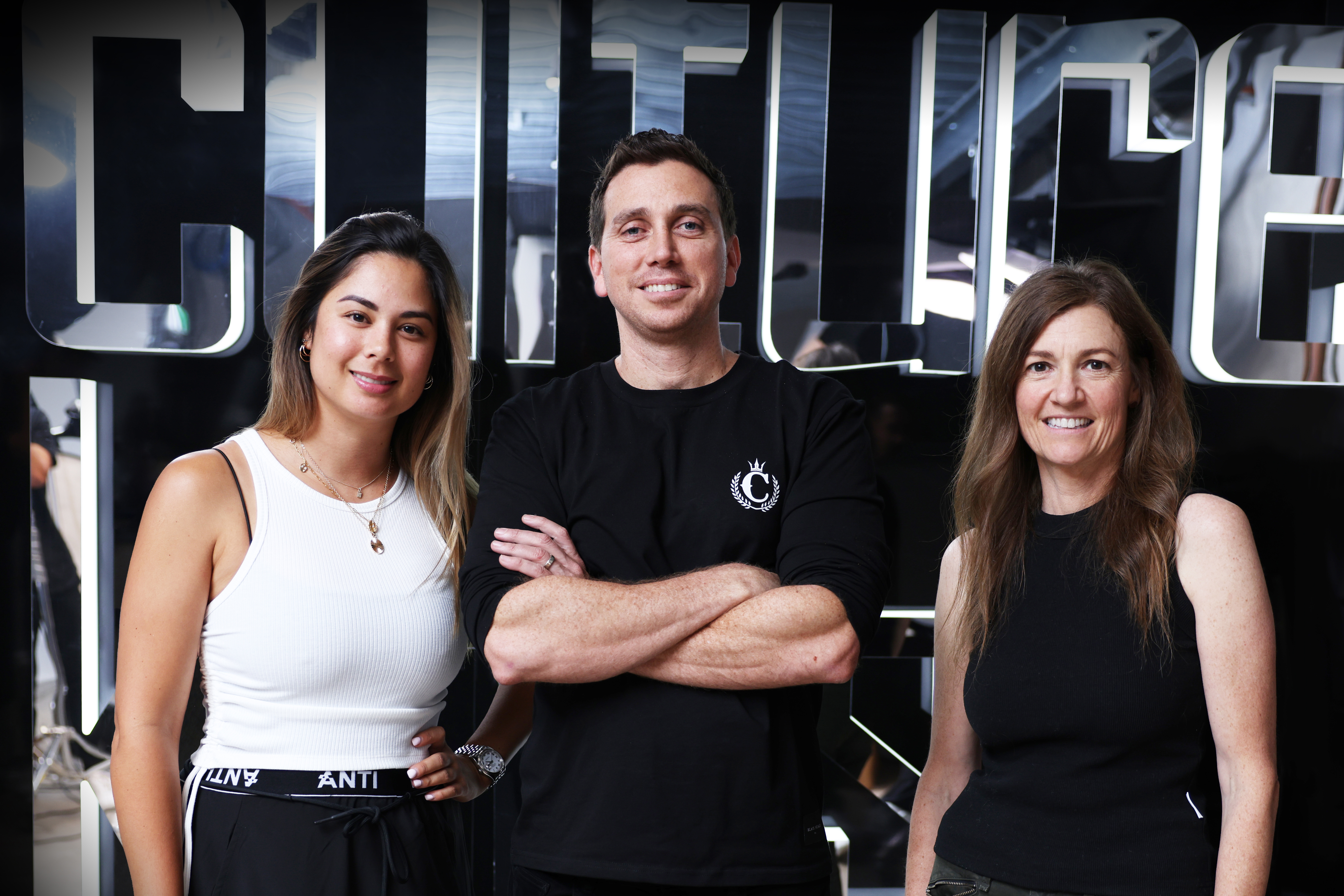 Culture Kings co-founders Tah-nee and Simon Beard with A.k.a. Brands CEO Jill Ramsey.