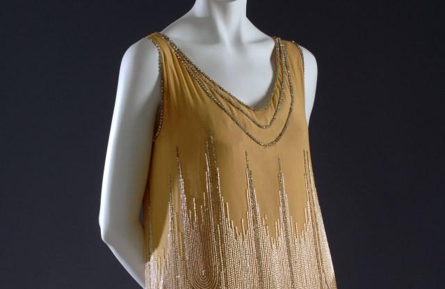 This Paul Poiret evening dress circa 1926 opens the show.