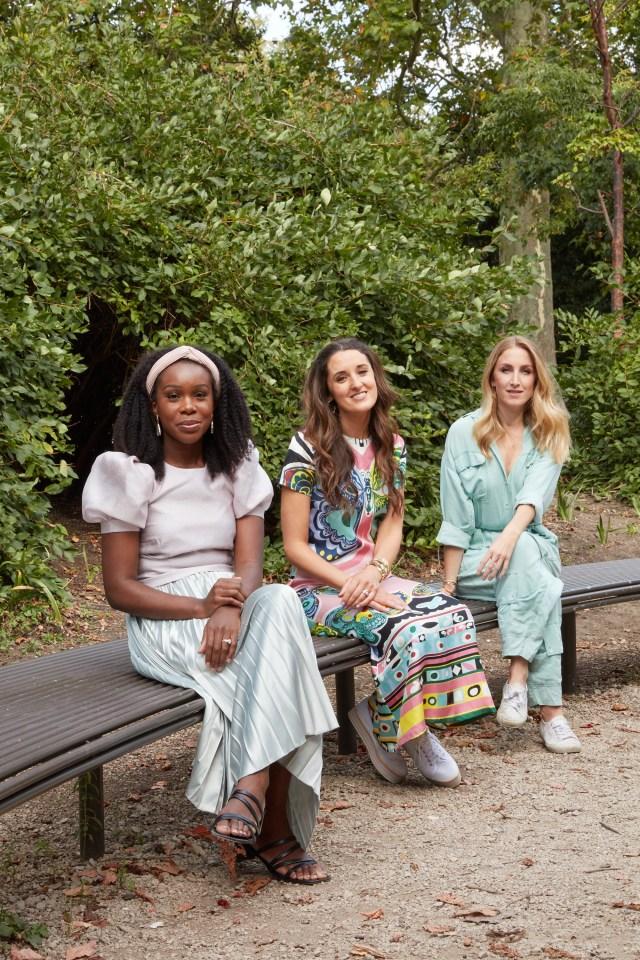 Fash Mash's strategic consultant Frederica Brooksworth, Rosanna Falconer and Rachel Arthur