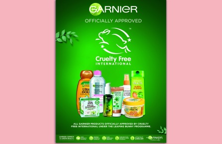 Garnier has been approved by Cruelty Free International.