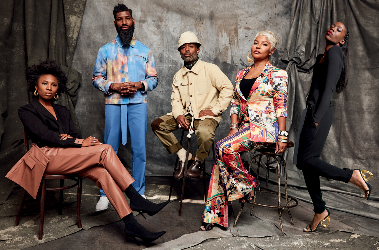 "Macy's ""Icons of Style"" features, from left, Zerina Akers, Allen Onyia, Ouigi Theodore, Misa Hylton and Aminah Abdul Jillil."