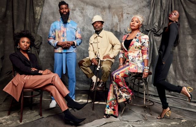 """Macy's """"Icons of Style"""" features, from left, Zerina Akers, Allen Onyia, Ouigi Theodore, Misa Hylton and Aminah Abdul Jillil."""