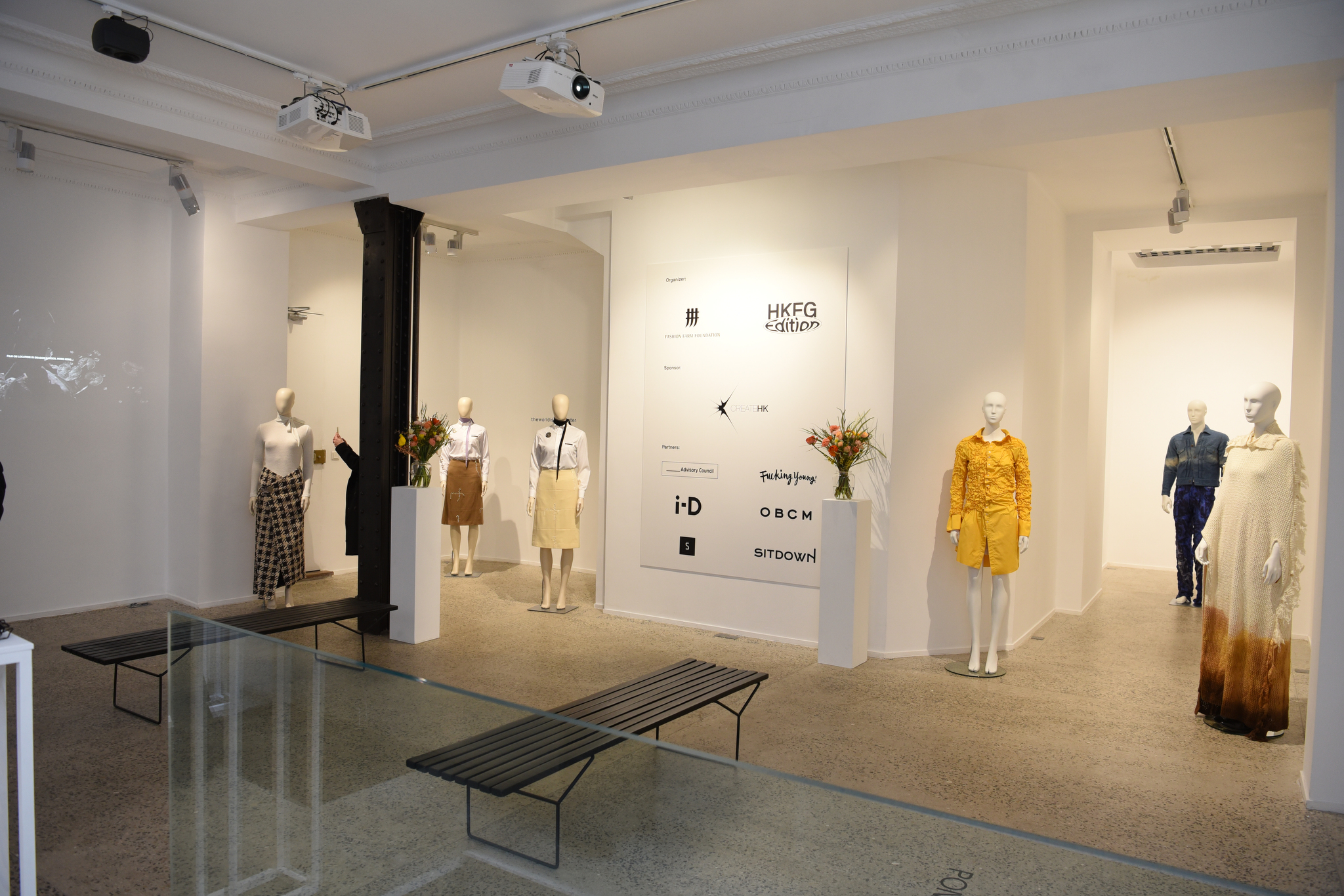 Fall 2021 HKFG presentation featuring Ponder.Er and The World is your Oyster at Galerie Joseph in Paris.