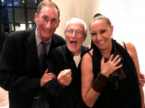 Howard Silver (left) with designers Stan Herman and Donna Karan.