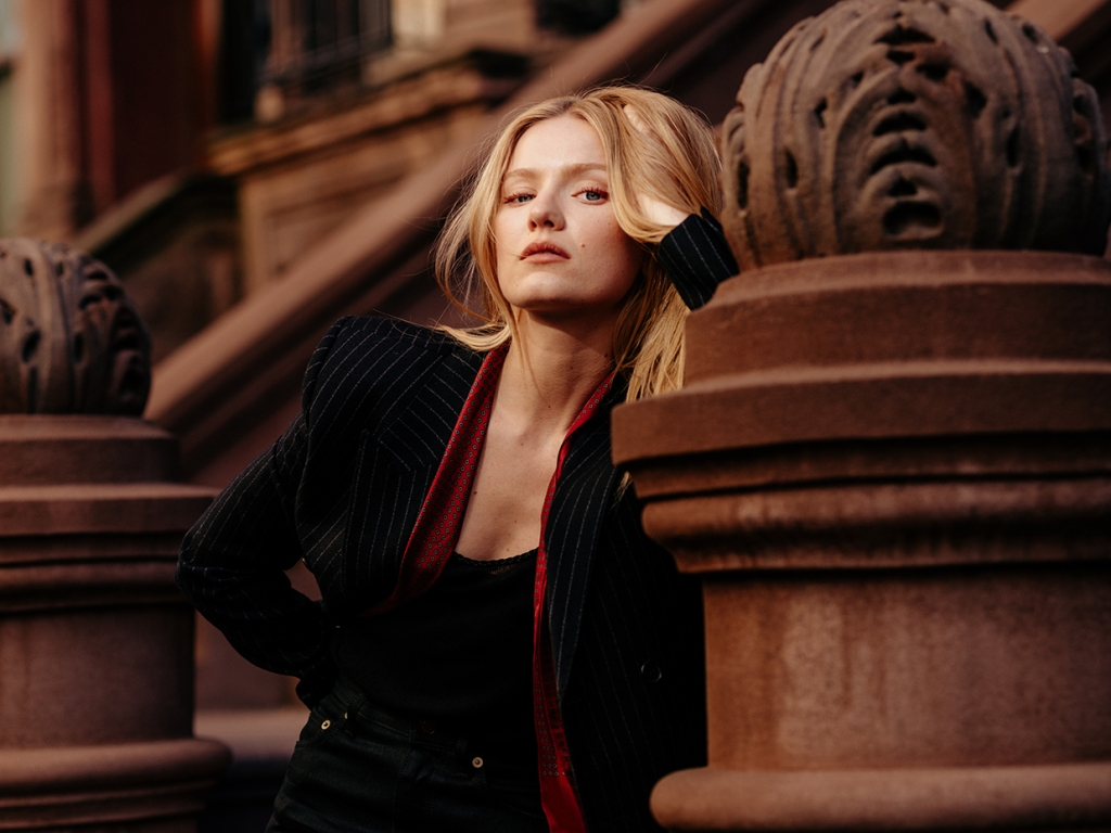 Hadley Robinson shot on the Upper West Side of NYC.