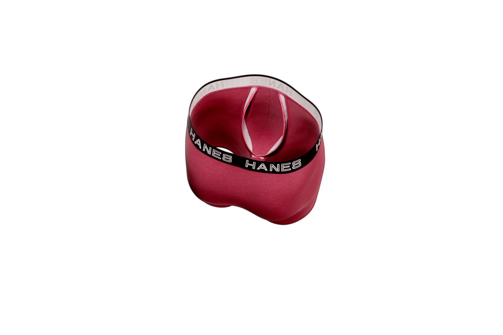 The new boxer briefs feature a patent-pending pouch construction.
