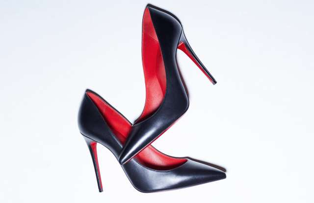 A pair of iconic Louboutin pumps
