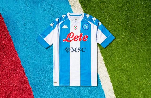 Kappa jersey tributing soccer player Diego Armando Maradona.