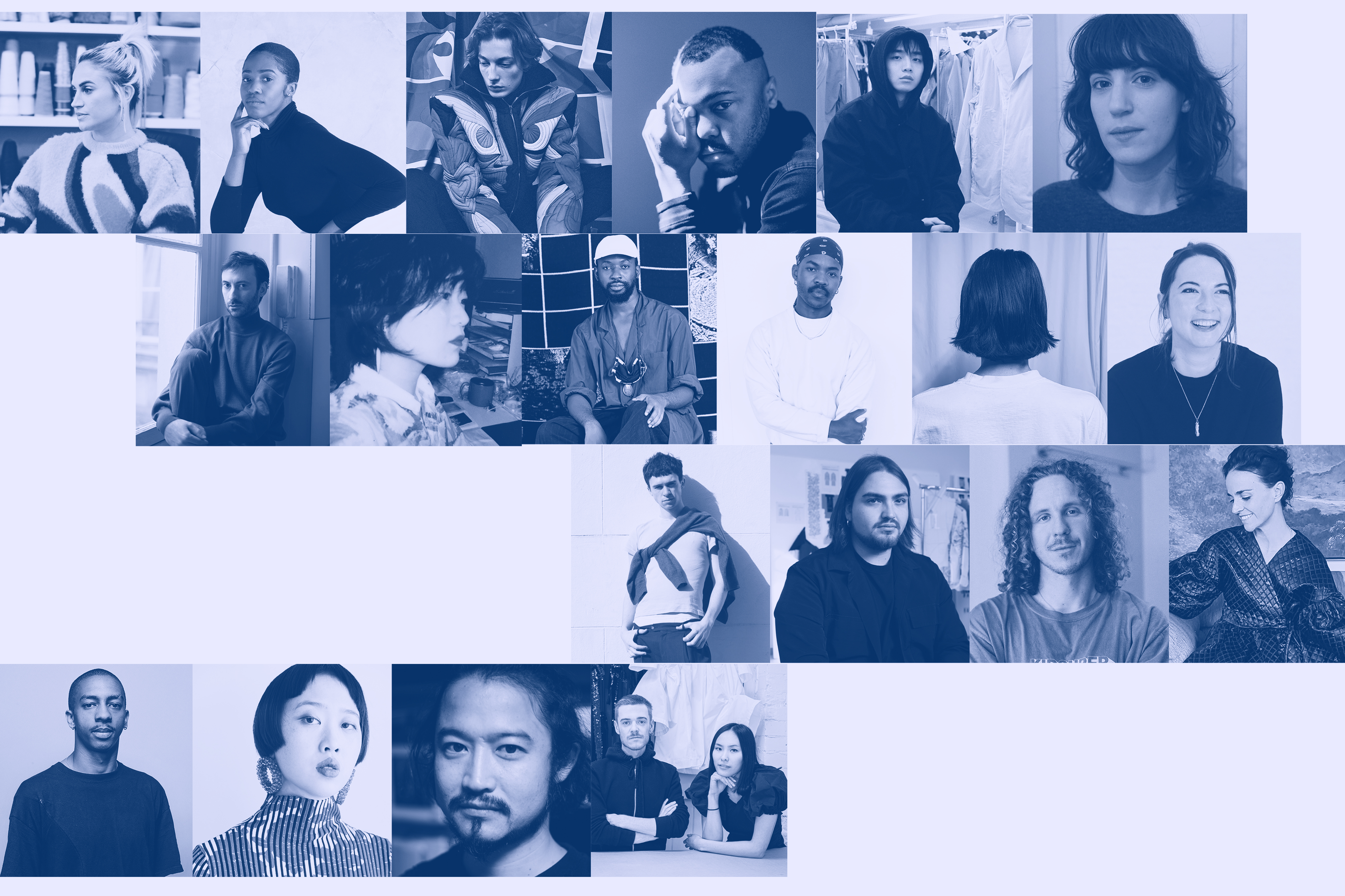 The 20 semifinalists of the LVMH Prize for Young Designers.