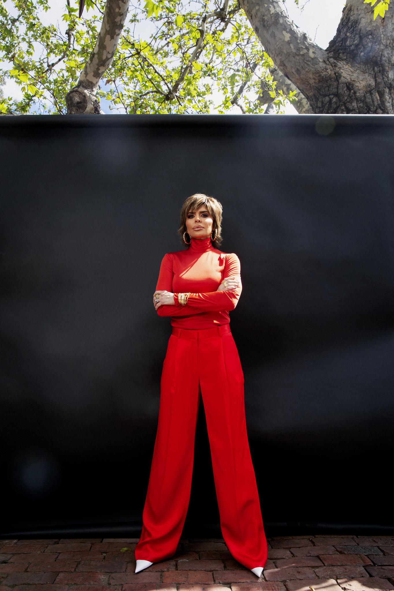Lisa Rinna wearing red