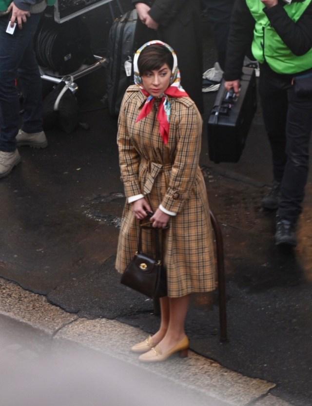 لیدی گاگا در فیلمبرداری