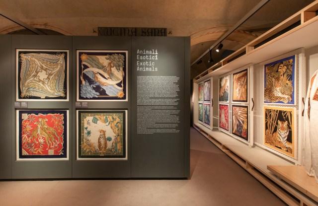 The Seta exhibit at Museo Salvatore Ferragamo in Florence.