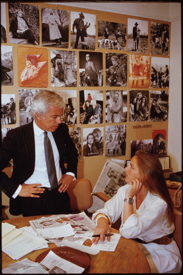 Ralph Lauren and Buffy Birrittella