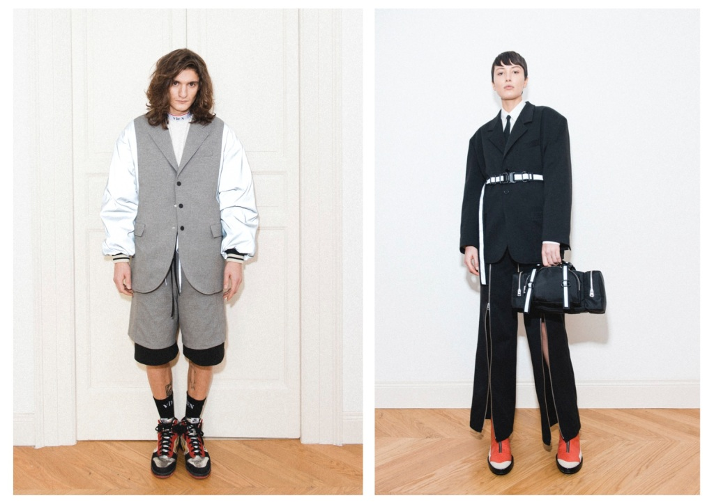 Looks from Vìen fall 2021 coed collection.