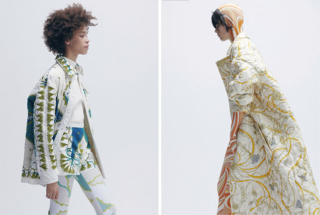 Looks from Emilio Pucci's Fall 2021 collection.