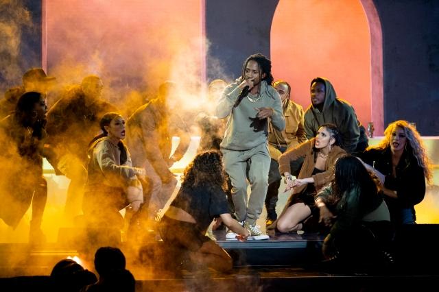 "D Smoke performing on ""Rhythm + Flow."""