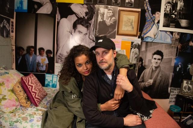 Helena Howard and Writer/Director Stephen Kijak on set.
