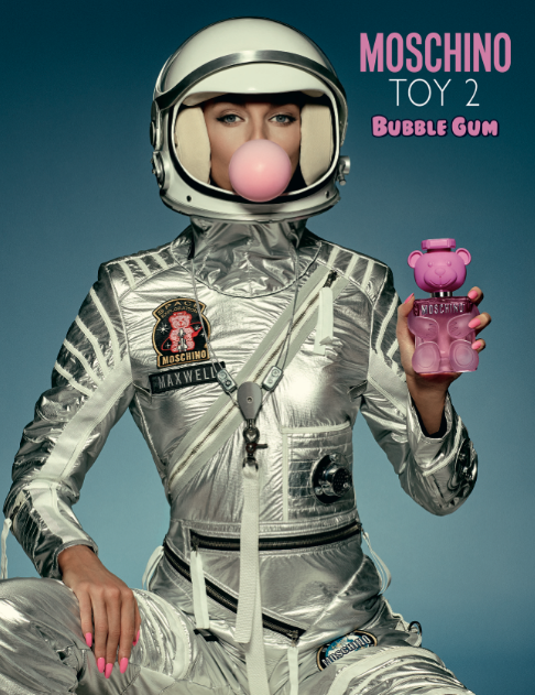 Stella Maxwell in the Moschino Toy 2 Bubble Gum campaign.