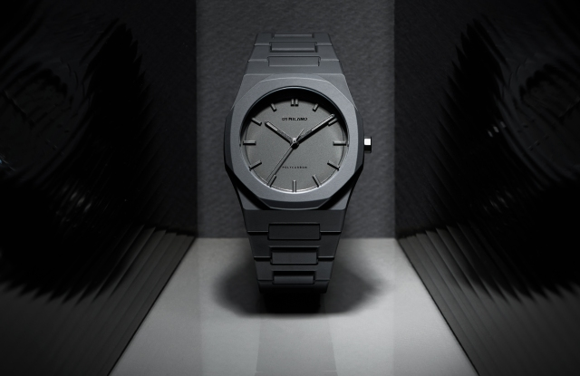 """The D1 Milano """"PolyCarbon"""" watch."""