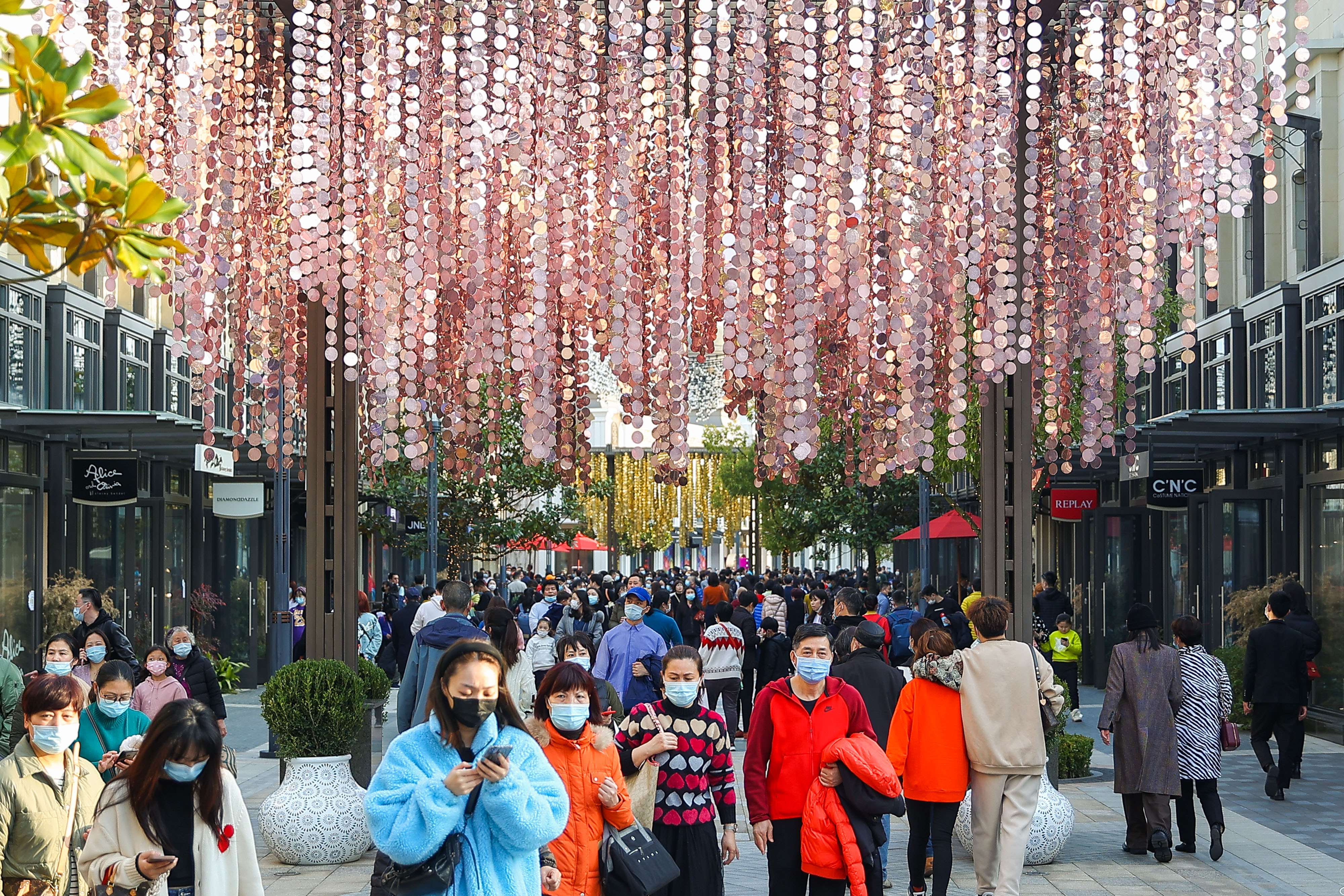 Shanghai Village during Chinese New Year holiday.