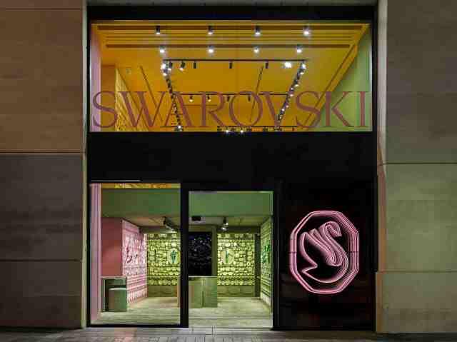Swarovski store on the Avenue des Champs Elysees in Paris