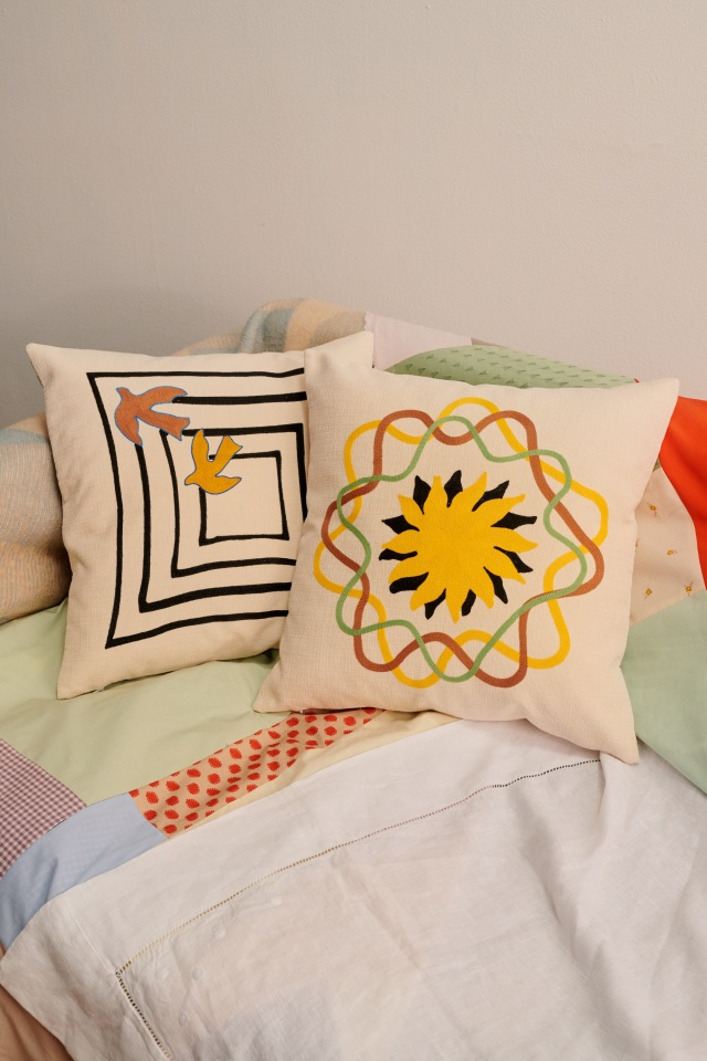 Cushions from French brand Tressé's home wares collection.