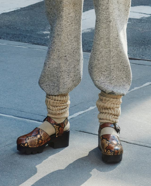 Clogs from Tory Burch fall 2021.