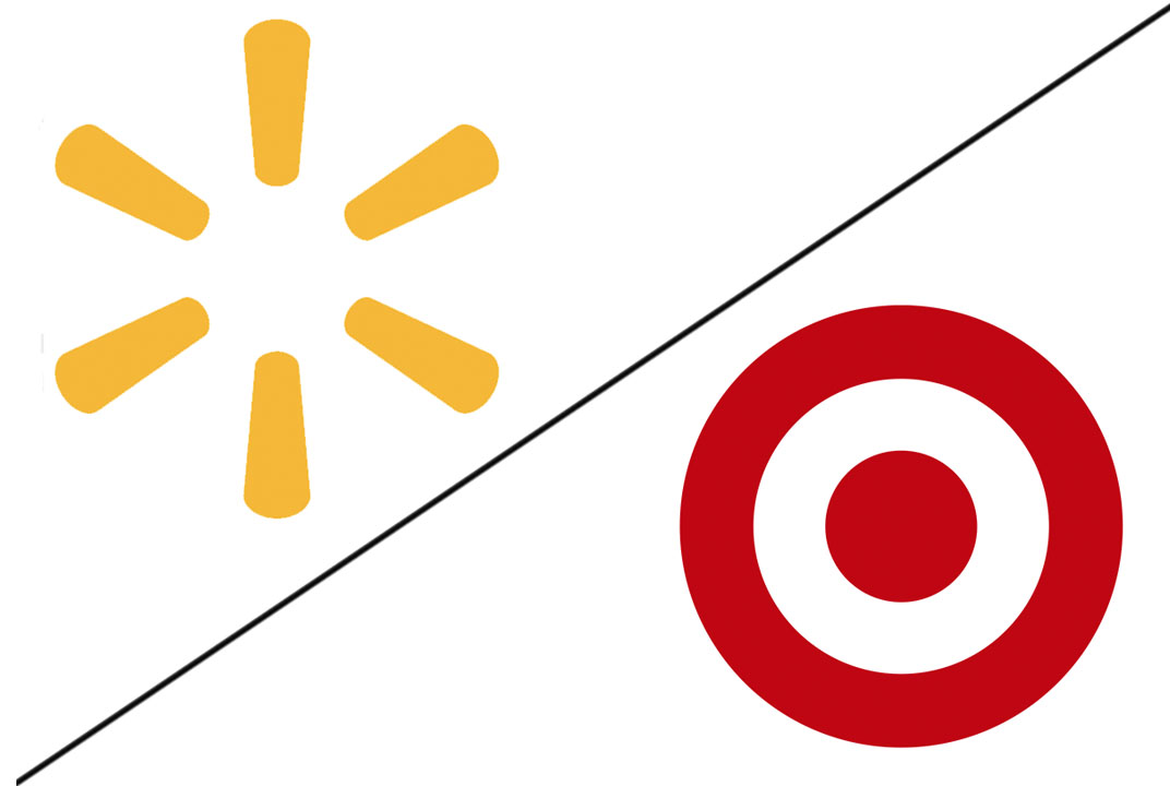 Walmart and Target logos