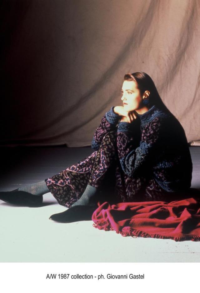 Missoni Fall 1987 campaign shot by Giovanni Gastel