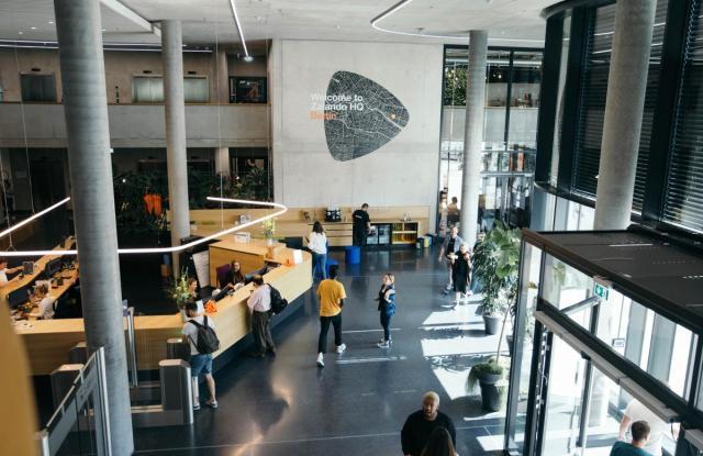 The entrance to Zalando's Berlin headquarters.