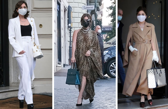 Lady Gaga filming 'House of Gucci.'